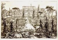 Veduta della villa Estnse in Tivoli.