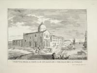 Veduta della chiesa e spiaggia di S. Nicolo di Castello.