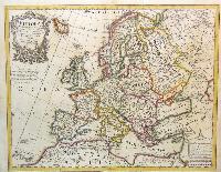 Europa Delineata juxta Observationes Excellorum Virorum Academiae Regalis Scientiarum et nonnullor aliorumet juxta recentissimas annotationes.