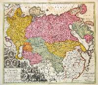 Spatiosissimum imperium Russiae magnae.
