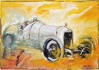 Automobile da corsa grigia