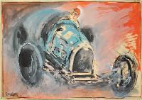 Automobile da corsa blu.