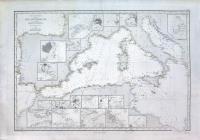 Carte générale de la mer Méditerranée. 1ère feuille (con) Carte générale de la mer Mèditerranée. 2ème feuille.