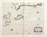 Carta marittima della parte meridionale della Cefalonia com'anche l'isola del Zante e la costa di Morea da C. Chiarese sin à C. Sapienza