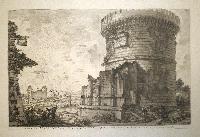 Veduta del sepolcro della famiglia Plauzia per la strada che conduce da Roma a Tivoli vicino a Ponte Lugano.