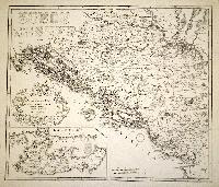 Dalmatia et regiones adjacentes Croatia Bosnia Slavonia Servia Albania accurate descriptae.
