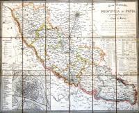 Carta topografica della provincia di Pavia.