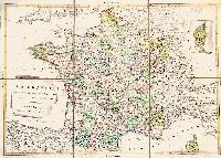 La Francia divisa negli ottantatre dipartimenti secondo la nuova Costituzione.