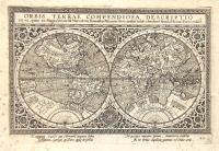 Orbis Terrae compendiosa descriptio ex ea, quam ex Magna Universali Mercatoris Rumoldus Mercator fieri curabat in hac cómodioré formá a Hieron: Porro redact: