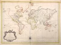 Essays d'une carte réduite contenant les parties connuees du globe terrestre.