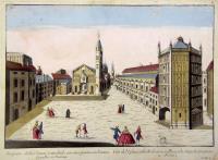 Prospetto della Chiesa Cattedrale con sua piazza con l'antica Capella in Parma.