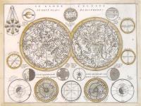 Le Globe celeste en deux plans hemispheres.