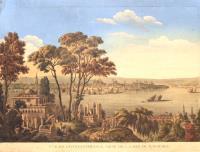 Vue de Costantinople, prise de la mer de Marmara.