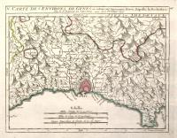 Carte des environs de Genes où se trouvent Arenzano, Nervi, Rapallo, La Bochetta....