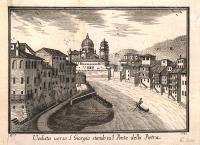 Veduta verso S. Giorgio stando sul Ponte della Pietra