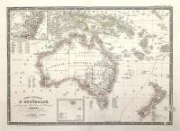 Carte générale de l'Australie et de la partie Sud-Ovest de l'Oceanie.