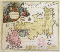 Regni Japoniae nova mappa geographica ex indigenarum observationibus delineate ab Engelberto Kaempfero recusa et emendata.