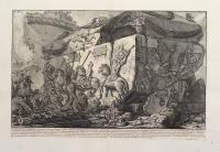 Grand'urna di porfido co' suo coperchio, ritrovata nel Mausoleo di S.Elena…