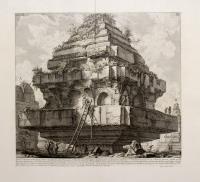 Veduta di un gran Masso, Avanzo del Sepolcro della famiglia de' Metelli sulla Via Appia…
