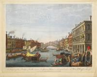 A prospect of the Bridge Rialto, with the Delpheno Palace on the right hand & the Wine Wharf on the left.