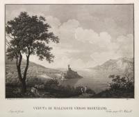 Veduta di Malcesine verso Desenzano.