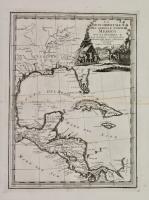 La parte orientale dell'antico, e nuovo Messico con la Florida e la bassa Luigiana delineata sulle ultime osservazioni