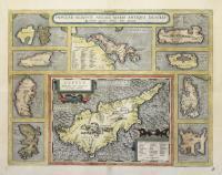 Cyprus, insula laeta choris, blandorum et mater amorum/Insular. Aliquot Aegaei Maris Antiqua Descrip. Ex conatibus geographicis Abrahami Ortelij Antverpiani.