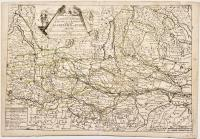 Carte des marches, contremarches et campemens des armées confederez de France et d'Espagne et de celle de l'empereur en Italie.