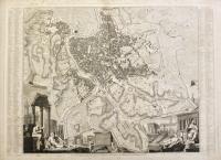 Plan topographique de Rome moderne avec les changemens et accroissemens nouveaux.