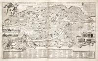 Pianta di Roma come si trova al presente colle alzate delle fabbriche piu nobili cosi antiche come moderne, la quale si stampa in Roma da Matteo Gregorio de Rossi Romano.