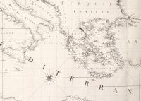 Carte réduite de la mer Méditerranée et de la mer Noire dédiée et présentée a S.M. l'Empereur et Roy.
