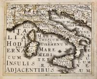 Italia Hodierna cum Insulis Adjacentibus