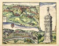Lucenburgum urbs eiusdem nominis Ducatus primaria et tribunal supremum, montoso et inaequali situ spectabilis