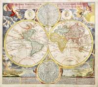 Planiglobii terrestris cum utr. Hemisphaerio Caelesti generalis exhibitio.