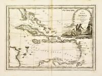 Le isole Antille delineate sulle ultime osservazioni.
