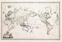Mappe-Monde sur la projection réduite de Mercator
