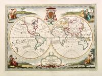 Mappamondo antico diviso nell'uno e nell'altro continente secondo la mente di Guglielmo Sanson.