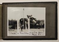 (Foto) Album di fotografie di cavalleria militare della Scuola di Equitazione datate dal 1932 - 33 - 34 -35 prima seconda e terza sezione.