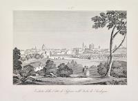 Veduta della città di Sassari nell'isola di Sardegna