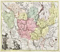 Mappa Geographica exhibens Electoratum Brandeburgensem sive  Marchiam Veterem, mediam et novam nec non Marchiam Vkeram.