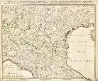 Carte de la Republique Cisalpine avec le plus grand part du territoire de Venise cedé a l'Autriche dans la paix d'Udine (titolo ripetuto in tedesco a lato)