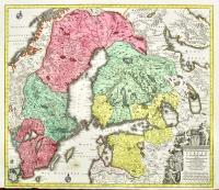Nova mappa geographica Sueciae ac Gothiae Regna ut et Finlandiae Ducatum ac Lapponiam…