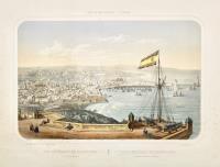 Vue générale de Barcelone prise de fort Montjouy-Vista general de Barcelona tomada del fuerte Monjuich