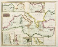 Chart of the Mediterranean sea