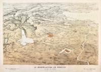 Le quadrilatère en Vénétie. Vue prise a vol d'oiseau…d'après les plans du Dépôt de la Guerre