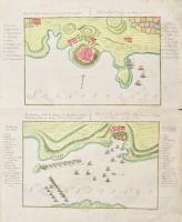 Plan des Schlosses Lemnos, welches d.4.8br 1770 Capitulierte (ripetuto in francese) – Beschreibung welche die Attaque der Russischen...
