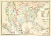 Carte générale des Etats-Unis et du Mexique comprenant l'Amerique centrale et les Antilles