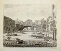 Vue de pont de Rialto de Venise. Exactement desinée sur le lieu...