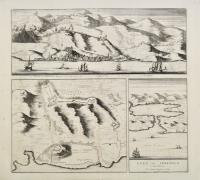 Veue de Sebenico – Plan de Sebenico – Port de Sebenico