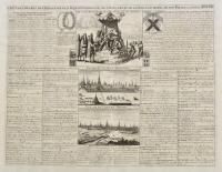 Carte des ordres de chevalerie de sa Majesté Czarienne, ses titres, l'Etat de sa noblesse, profil de son palais et la vue de Moscow